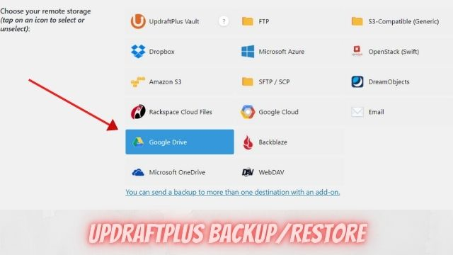 how to backup wordpress site to google drive