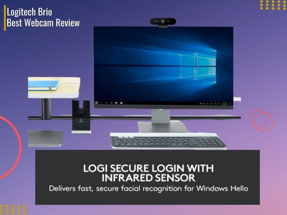 logitech 4k pro webcam vs brio on a pc with gradiance background