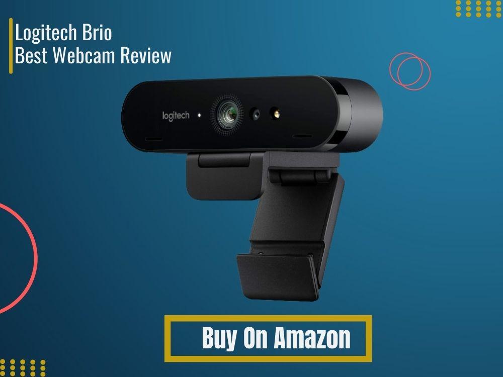logitech brio 4k ultra hd webcam review on blue background